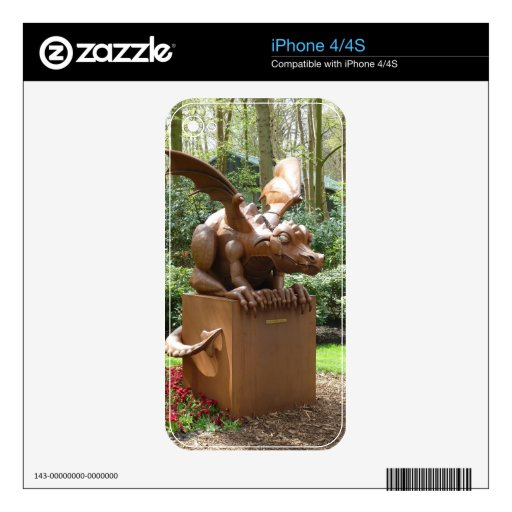 Crouching Dragon Decal For iPhone 4S