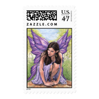 Crouching Fairy Postage Stamps