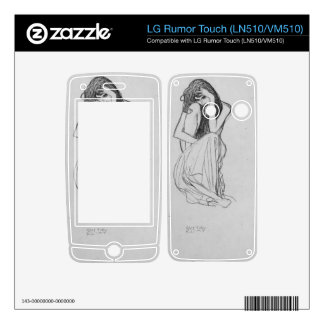 Crouching from the front by Gustav Klimt Skins For LG Rumor Touch
