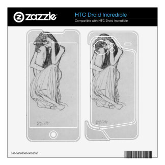 Crouching from the front by Gustav Klimt HTC Droid Incredible Skin