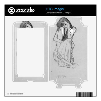 Crouching from the front by Gustav Klimt Skin For HTC Imagio