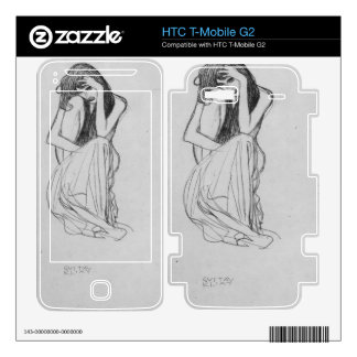 Crouching from the front by Gustav Klimt HTC T-Mobile G2 Decals