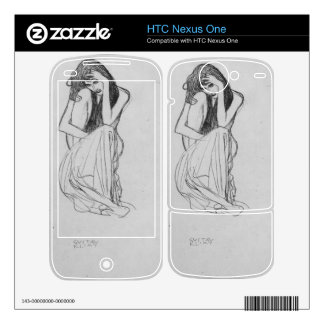 Crouching from the front by Gustav Klimt Skins For HTC Nexus One