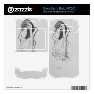 Crouching from the front by Gustav Klimt Skins For BlackBerry