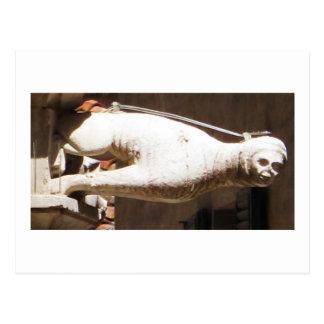 Crouching Gargoyle - circa 1340 Postcard
