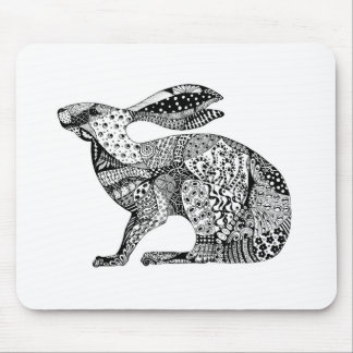 Crouching Hare Mouse Pad