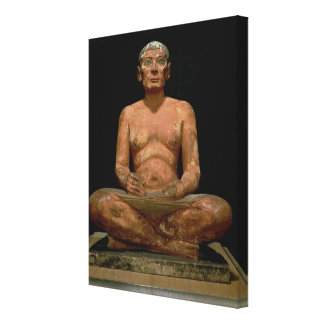 Crouching Scribe Statue Canvas Print