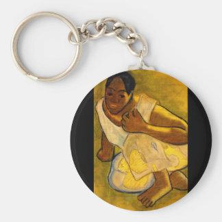 Crouching Tahitian Girl'_Studies of the Masters Keychain