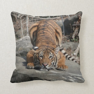 Crouching Tiger dual sided Throw Pillow