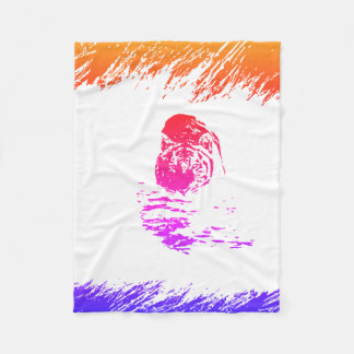 Crouching Tiger Hidden Rainbow Fleece Blanket