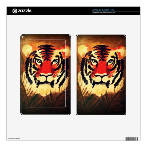 Crouching Tiger Kindle Fire Decal