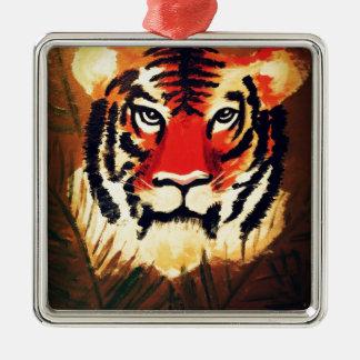 Crouching Tiger Metal Ornament