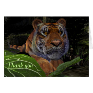Crouching Tiger Thank You Card