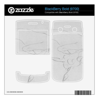 Crouching to right by Gustav Klimt Decal For BlackBerry