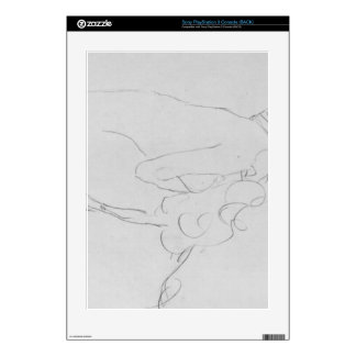 Crouching to right by Gustav Klimt PS3 Console Skin