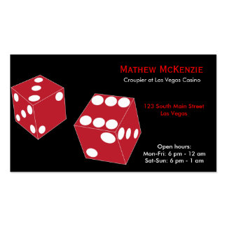 Croupier/Owner Casino Business Card