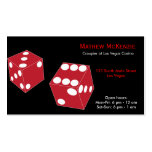 Croupier/Owner Casino Double-Sided Standard Business Cards (Pack Of 100)