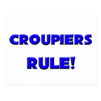 Croupiers Rule! Post Card