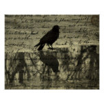 Crow And Poe Papers Print