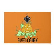 Crow and Pumpkin Doormat