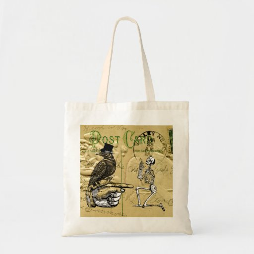 Crow and skeleton bags