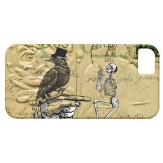 Crow and skeleton iPhone 5 cover