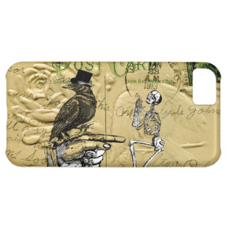 Crow and skeleton case for iPhone 5C