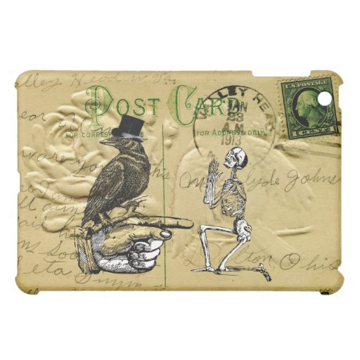 Crow and skeleton case for the iPad mini