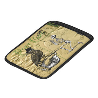 Crow and skeleton iPad sleeve
