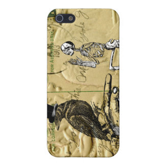 Crow and skeleton iPhone SE/5/5s cover