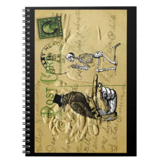 Crow and skeleton notebook