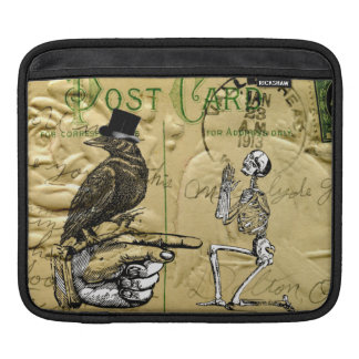 Crow and skeleton sleeve for iPads