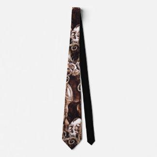 Crow and Skull Necktie