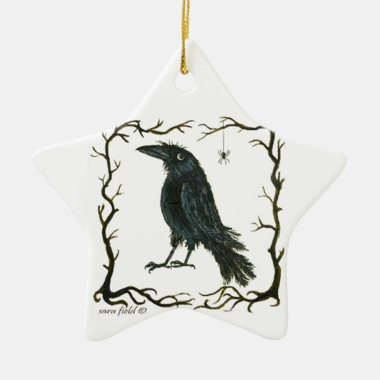 Crow and Spider Ornament