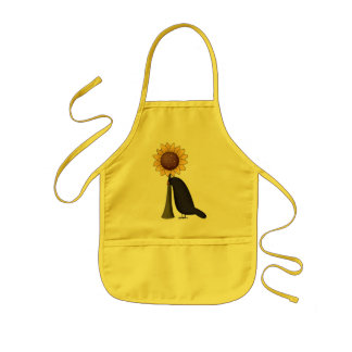 Crow and Sunflower Aprons