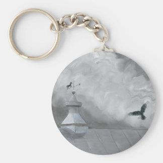 Crow and Weather Vane Keychain