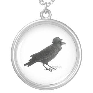 Crow Art Necklace