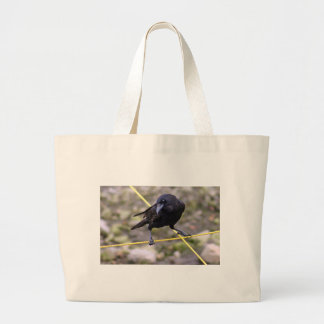 Crow at Crossroads Canvas Bags