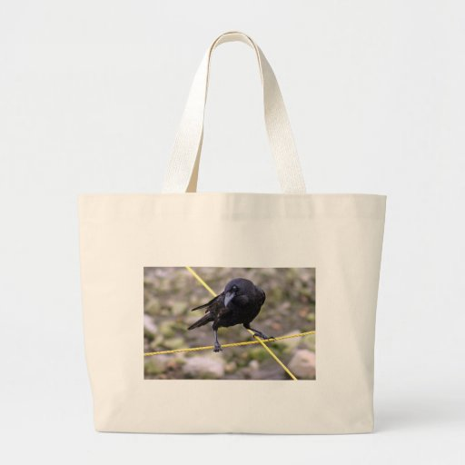 Crow at Crossroads Jumbo Tote Bag