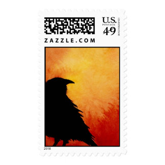 Crow at Sunset Stamps
