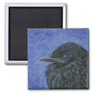 Crow Baby 2 Inch Square Magnet