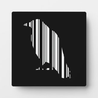 Crow Bar Code Bird Pattern Design Plaque