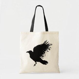 Crow - black canvas bag