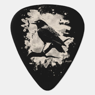 Crow bleached look guitar pick