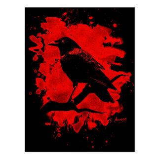 Crow bleached talk postcard