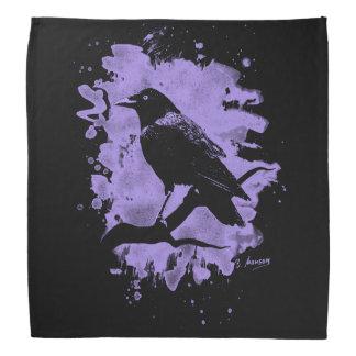 Crow bleached violet bandana