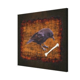 Crow & Bone Rustic Grunge Wildlife Canvas (Med)