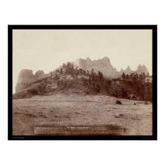 Crow Butte near Fort Robinson NE 1891 Posters