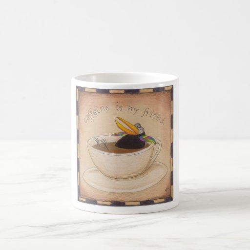 Crow Caffeine Fix Classic White Coffee Mug