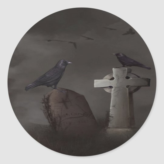 Crow cemetary stickers